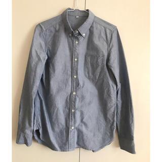 MUJI (無印良品) - オーガニックコットン洗いざらしオックスボタンダウンシャツ * 無印良品