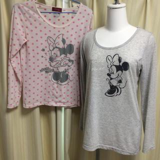 ディズニー(Disney)のディズニー ミニー ロンT Tシャツ セット ミッキー パーカー UNIQLO(Tシャツ(長袖/七分))