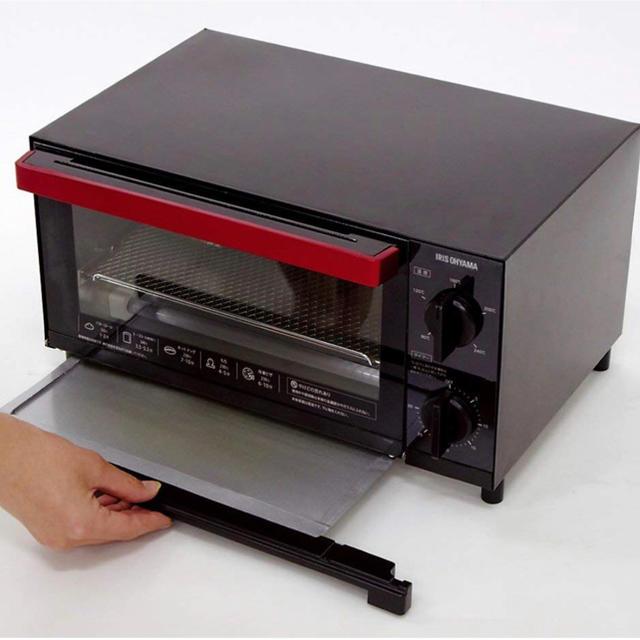 アイリスオーヤマ(アイリスオーヤマ)の◣オーブントースター TVE-134C-B アイリスオーヤマ スマホ/家電/カメラの調理家電(調理機器)の商品写真