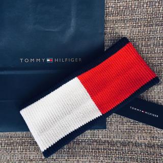 トミーヒルフィガー(TOMMY HILFIGER)の★Tommy Hilfiger US限定販売品ビッグロゴユニセックスヘッドバンド(ニット帽/ビーニー)