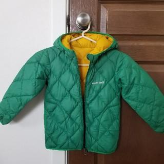 モンベル(mont bell)のmont-bell モンベル リバーシブルダウン サイズ 100 緑 黄色(ジャケット/上着)
