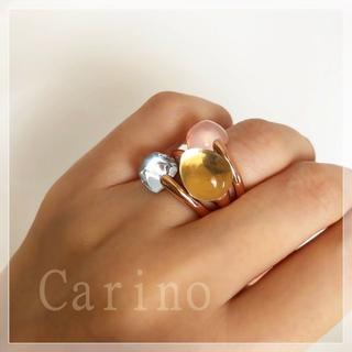 レモンクオーツ × ローズクオーツ × ブルートパーズ の組み合わせ(リング(指輪))