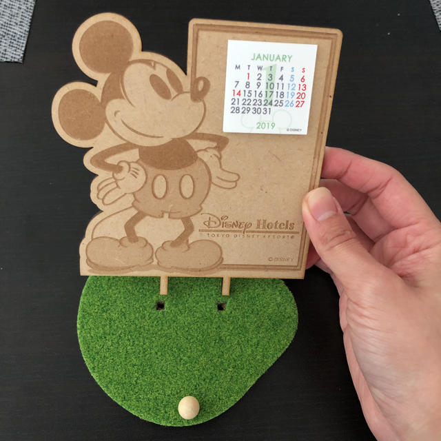 Disney(ディズニー)のDisney*ミッキー2019年卓上カレンダー インテリア/住まい/日用品の文房具(カレンダー/スケジュール)の商品写真