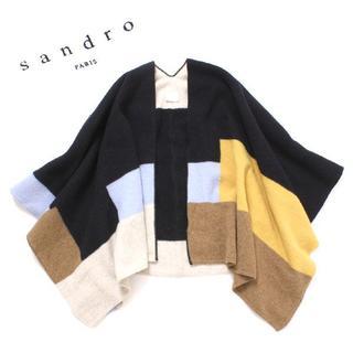 サンドロ(Sandro)のsandro 配色 ウール ショール サンドロ ストール(マフラー/ショール)