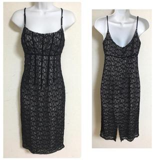 ニコルミラー(Nicole Miller)のニコルミラー ブラック レース フォーマル ドレス(ミディアムドレス)