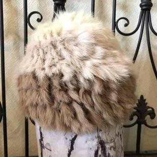ローズバッド(ROSE BUD)のラビットファー帽子(ニット帽/ビーニー)