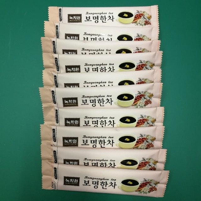 韓国 緑茶園 韓茶  スティック 10本セット 食品/飲料/酒の飲料(茶)の商品写真