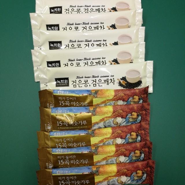 韓国 ミスカル ユルム茶 黒豆 黒ゴマ茶 スティック 10本セット 食品/飲料/酒の飲料(茶)の商品写真