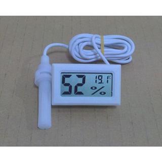 デジタル温度・湿度計★コード長1.5m★白or黒(爬虫類/両生類用品)