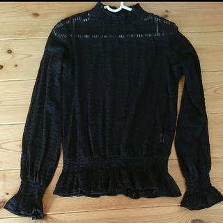 GU - 前作 GUレースフリルネックシャツ