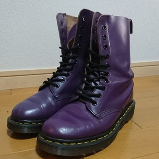 ドクターマーチン(Dr.Martens)のDr.Martens 10ホール 紫(ブーツ)
