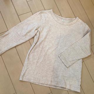 ムジルシリョウヒン(MUJI (無印良品))の無印良品☺︎シンプルカットソー ベージュ 生成り 100(Tシャツ/カットソー)