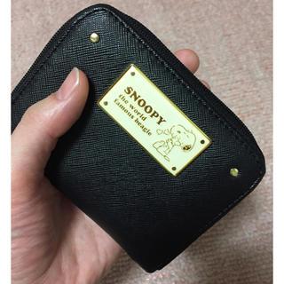シマムラ(しまむら)のスヌーピー snoopy ミニ 財布 お財布 黒 (財布)