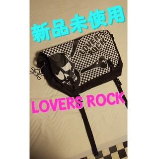 スーパーラヴァーズ(SUPER LOVERS)のLOVERSROCK★新品未使用★バッグ★スカル★市松模様(ショルダーバッグ)