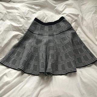 ルシェルブルー(LE CIEL BLEU)のチェックフレアスカート LE CIEL BLEU(ひざ丈スカート)
