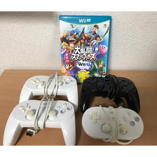 Wii U(ウィーユー)の値下げ 大乱闘スマッシュブラザーズ WiiU  Proコントローラー エンタメ/ホビーのテレビゲーム(家庭用ゲームソフト)の商品写真
