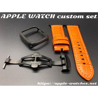 アップルウォッチカスタムセットczダイヤモンドカバーパネライ用極厚ベルトバックル(腕時計(デジタル))