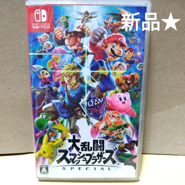 Nintendo Switch(ニンテンドースイッチ)の【新品】スマブラ switch エンタメ/ホビーのテレビゲーム(家庭用ゲームソフト)の商品写真