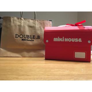 ミキハウス  ギフトボックス&ダブルビー紙袋