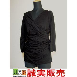 ヴァレンティノ(VALENTINO)のヴァレンティノローマ リボン付き 半袖 カットソー 黒 40サイズ (カットソー(半袖/袖なし))