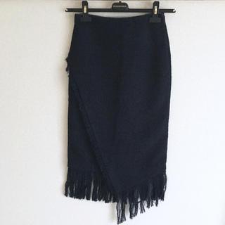 リサーチ(....... RESEARCH)のフリンジタイトスカート(ひざ丈スカート)