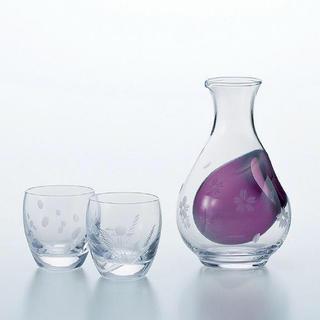 トウヨウササキガラス(東洋佐々木ガラス)の日本酒 徳利・杯 セット(グラス/カップ)