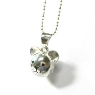 クマさんの鈴 No-2 シルバーネックレス(ネックレス)