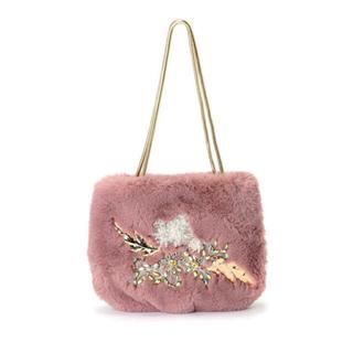 リリーブラウン(Lily Brown)のリリーブラウン ファーバッグ ビジュー ピンク もこもこ ゴールド ハンドバッグ(ハンドバッグ)