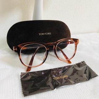 トムフォード(TOM FORD)の正規品 トムフォード メガネ 度入り ブラウン TF5426 ブランド 美品(サングラス/メガネ)