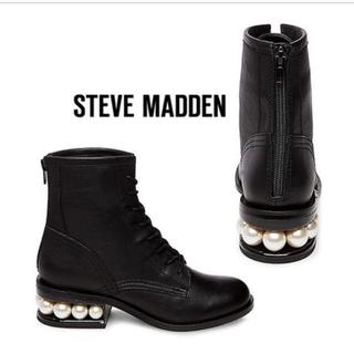 スティーブマデン(Steve Madden)のSteve madden PIXY ブーツパール付きソール 24.5 L(ブーツ)