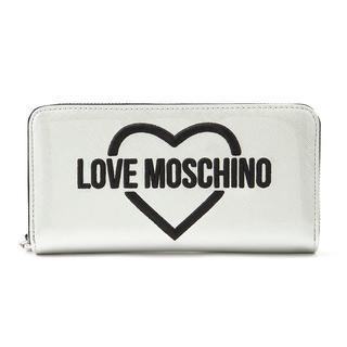 モスキーノ(MOSCHINO)のラブモスキーノ♡長財布 LOVE MOSCHINO シルバー(財布)
