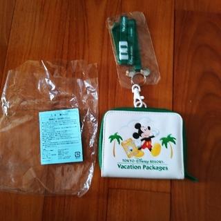 ディズニー(Disney)のディズニーパスケース(緑)(名刺入れ/定期入れ)