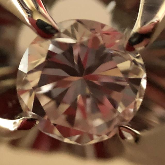 送料無料 Pt900ダイヤリング カラーレス VVSクラス レディースのアクセサリー(リング(指輪))の商品写真