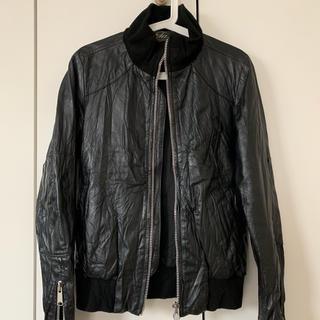 バイタススタンダード(by Tass Standard)のTassStandard シングルライダース メンズ ブラック 黒 Lサイズ(ライダースジャケット)