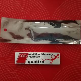 アウディ(AUDI)のAudi Sport quattro アウディ クワトロ 金属ステッカー(車外アクセサリ)