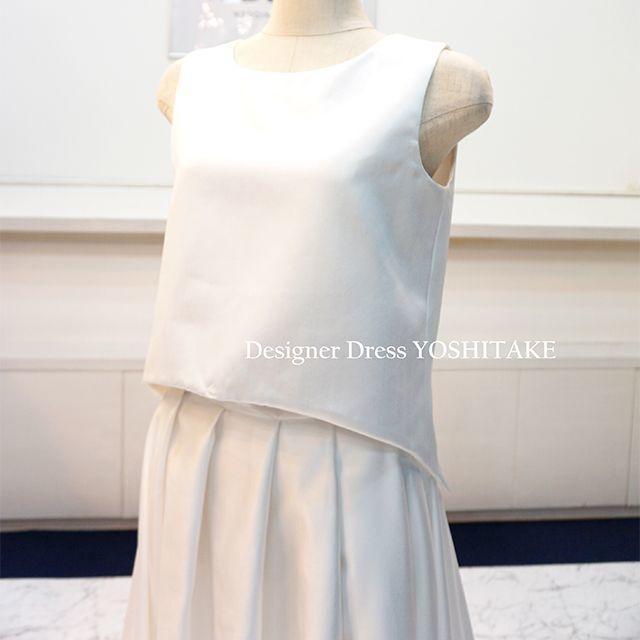 ウエディングドレス セパレートドレス(サテン生地) ブライダル二次会 レディースのフォーマル/ドレス(ウェディングドレス)の商品写真