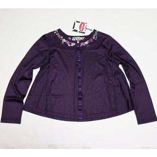 アルベロ(ALBERO)の新品 アルベロベロ ぶたちゃん刺繍ビジュー ストレッチカーディガン M(カーディガン)