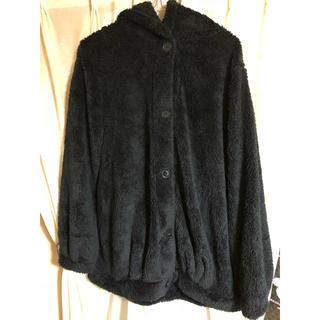 シマムラ(しまむら)のファーコート 黒 ブラック レディース 新品 未使用 しまむら ボアコート(毛皮/ファーコート)