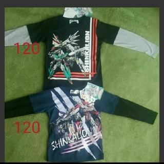 シマムラ(しまむら)の新品未使用タグ付き 新作 シンカリオンロンT 120(Tシャツ/カットソー)
