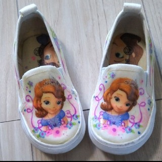 ディズニー(Disney)の未使用! ソフィア 上靴 スリッポン(スクールシューズ/上履き)