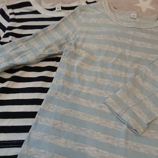MUJI (無印良品) - 無印良品  長袖Tシャツ 2枚セット 90