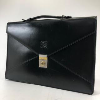 ロエベ(LOEWE)の正規品 LOEWE ロエベ ブラック レザー ビジネスバック GR12-50(ビジネスバッグ)