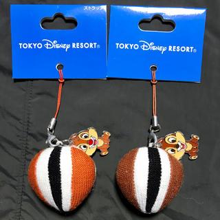 ディズニー(Disney)のTDR ディズニー ペア あみぐるみ ストラップ チップ デール リス ニット(ストラップ)