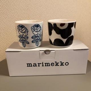 マリメッコ(marimekko)のマリメッコ ラテマグ 2個セット ウニッコ ヴィヒキルース(グラス/カップ)