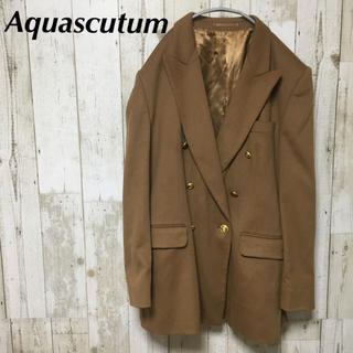 アクアスキュータム(AQUA SCUTUM)のアクアスキュータム  イングランド製 カシミヤ100% ダブルチェスターコート(チェスターコート)