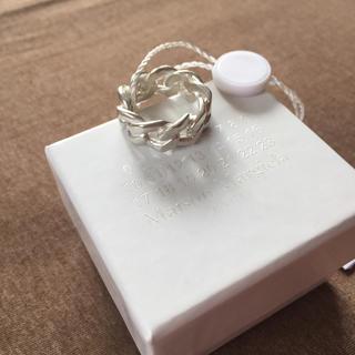 マルタンマルジェラ(Maison Martin Margiela)の18SS新品S マルジェラ シルバー チェーンリング(リング(指輪))