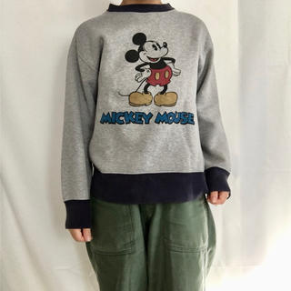 ディズニー(Disney)の古着 ミッキー スウェット(スウェット)