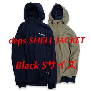 新品未開封 deps SHELL JACKET BLACK サイズS デプス(ウエア)