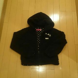 ティンカーベル(TINKERBELL)のティンカーベル 黒ボアブルゾン ジャケット長袖パーカー140サイズ(ジャケット/上着)