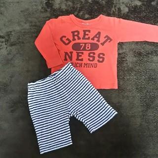 ベベ(BeBe)の長袖 パンツ  80(シャツ/カットソー)